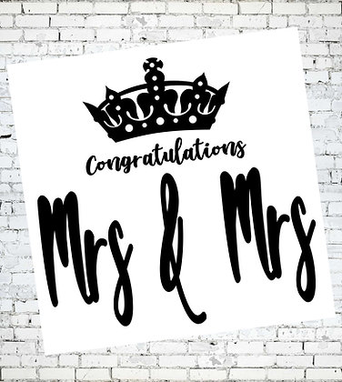 CONGRATULATIONS MRS AND MRS WEDDING ANNIVERSARY CARD