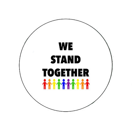 WE STAND TOGETHER PRIDE RAINBOW GAY LESBIAN TRANS LGBT