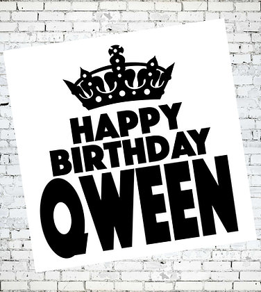 HAPPY BIRTHDAY QWEEN LGBT GAY LESBIAN BIRTHDAY CARD