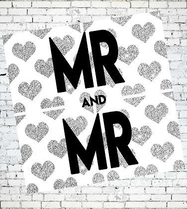 MR AND MR WEDDING, ANNIVERSARY, CONGRATULATIONS, GAY, LGBT, GREETING CARD