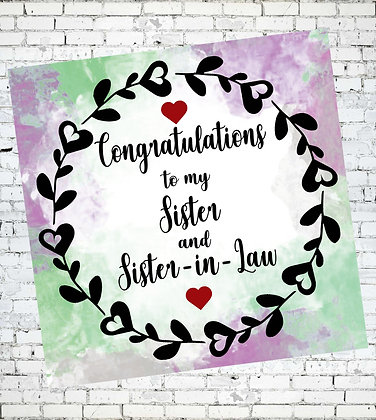 CONGRATULATIONS TO MY SISTERAND SISTER-IN-LAW LGBT LESBIAN
