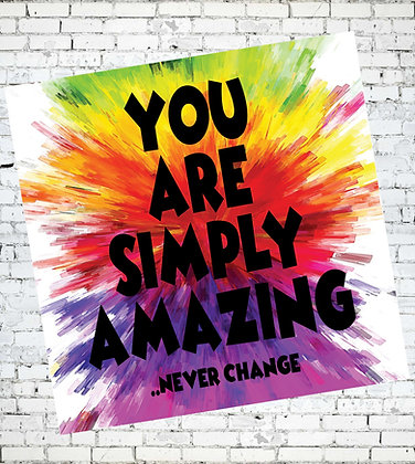 YOU ARE SIMPLY AMAZING LGBT PROUD RAINBOW GAY LESBIAN GREETING CARD