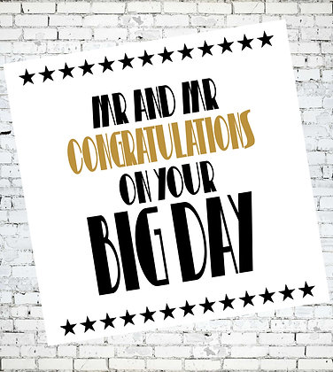 MR AND MR, CONGRATULATIONS ON YOUR BIG DAY WEDDING LGBT GREETING CARD