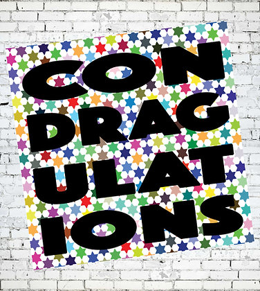 CONDRAGULATIONS CARD GAY LESBIAN LGBT RUPAUL POP CULTURAL