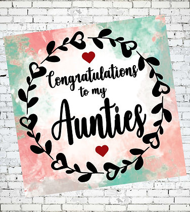 LGBT CONGRATULATIONS TO MY AUNTIES GREETING CARD