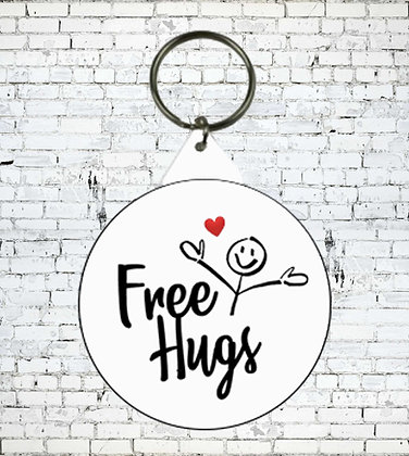 FREE HUGS KEYRING GAY LESBIAN TRANS LGBT ALLY FUN  HEART