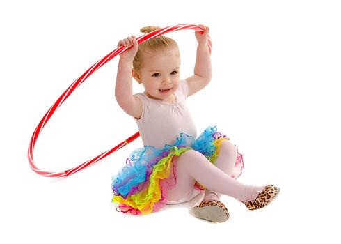 A Tiny Dancer in preschool having fun wi