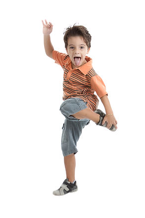 A nice brazilian and caucasian kid jumpi