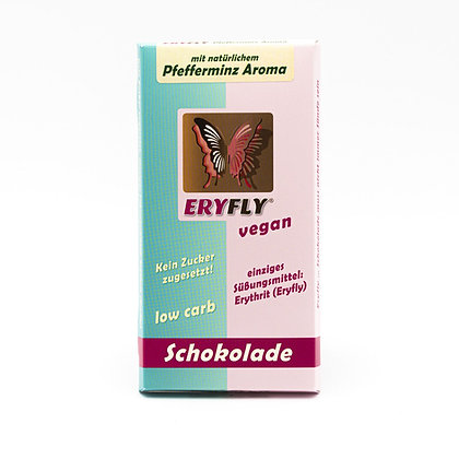 "ERYFLY SCHOKOLADE ""Pfefferminz"" 85g, vegan, low carb"
