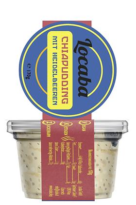 Veganer Low-Carb Chiapudding mit Heidelbeeren