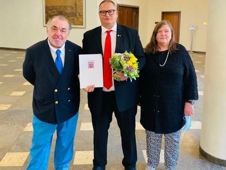 Peter Schmidt erhielt Ehrenbrief des Landes Hessen