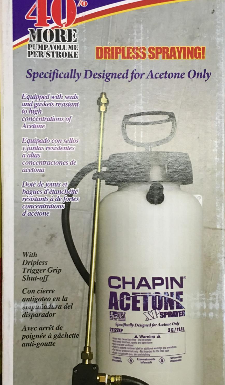 Chapin Acetone Sprayer