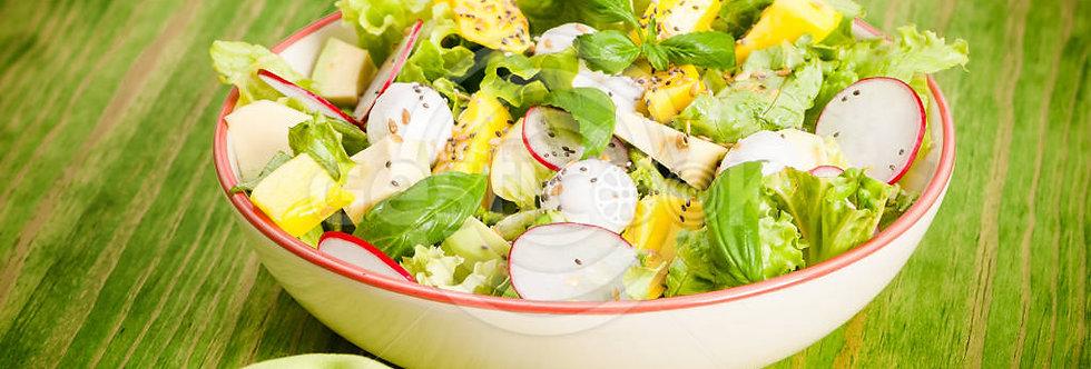 Salada de manga e manjericão
