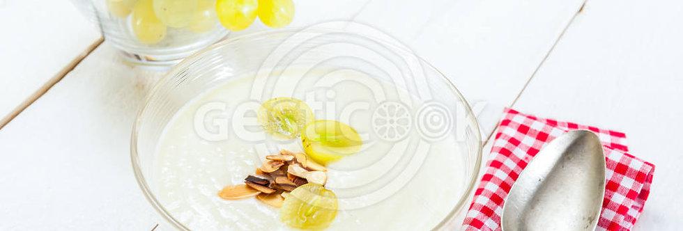 Iogurte e uvas
