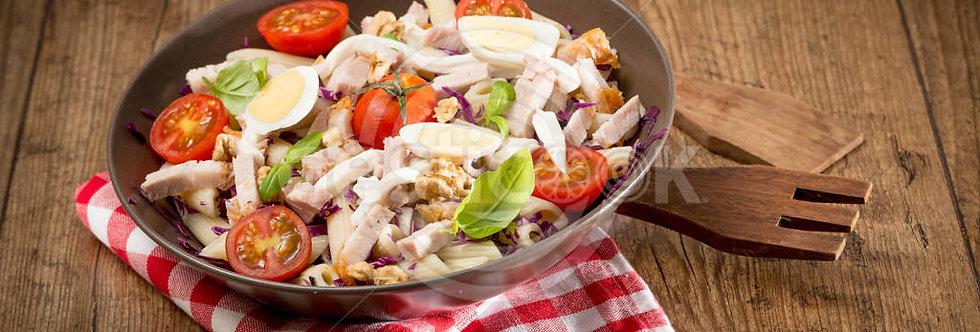 Salada de Lombo assado com massa napolitana