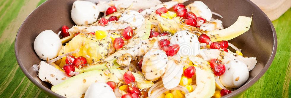 Salada de frango e romã