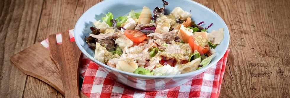 Salada de leitão e pão