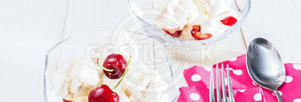 Suspiros com iogurte