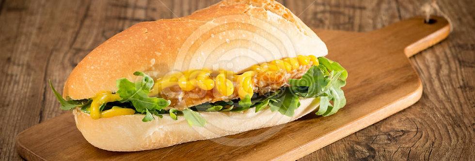Sandwich com lombo assado com cream cheese light