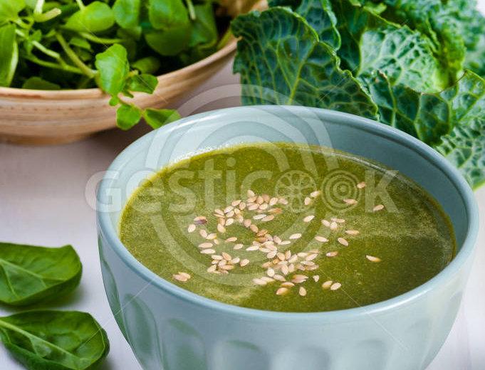 Sopa de agrião e linhaça