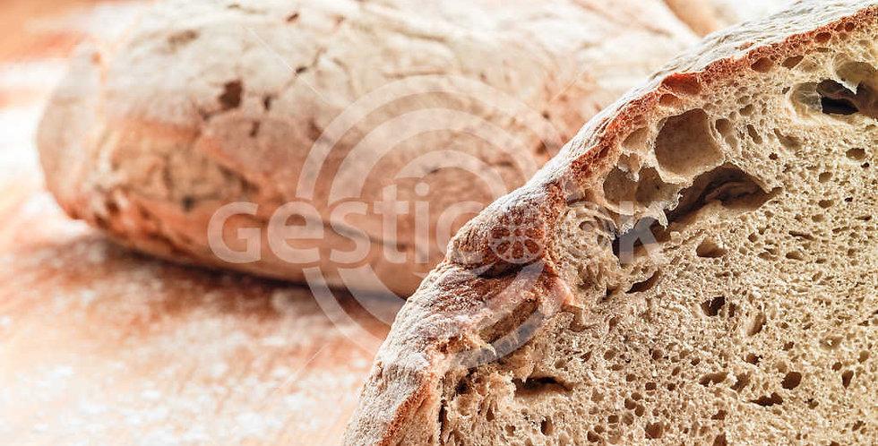 Pão Alentejano cortado