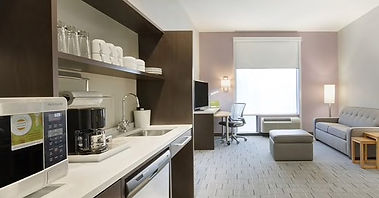 Interior of Home2 Suites in downtown Greenville. Paris Mountain Marketing facilitated the influencer marketing campaign, executed primarily on social media and the influencers' blogs, as well as other prominent regional blogs like Atlanta Parent.