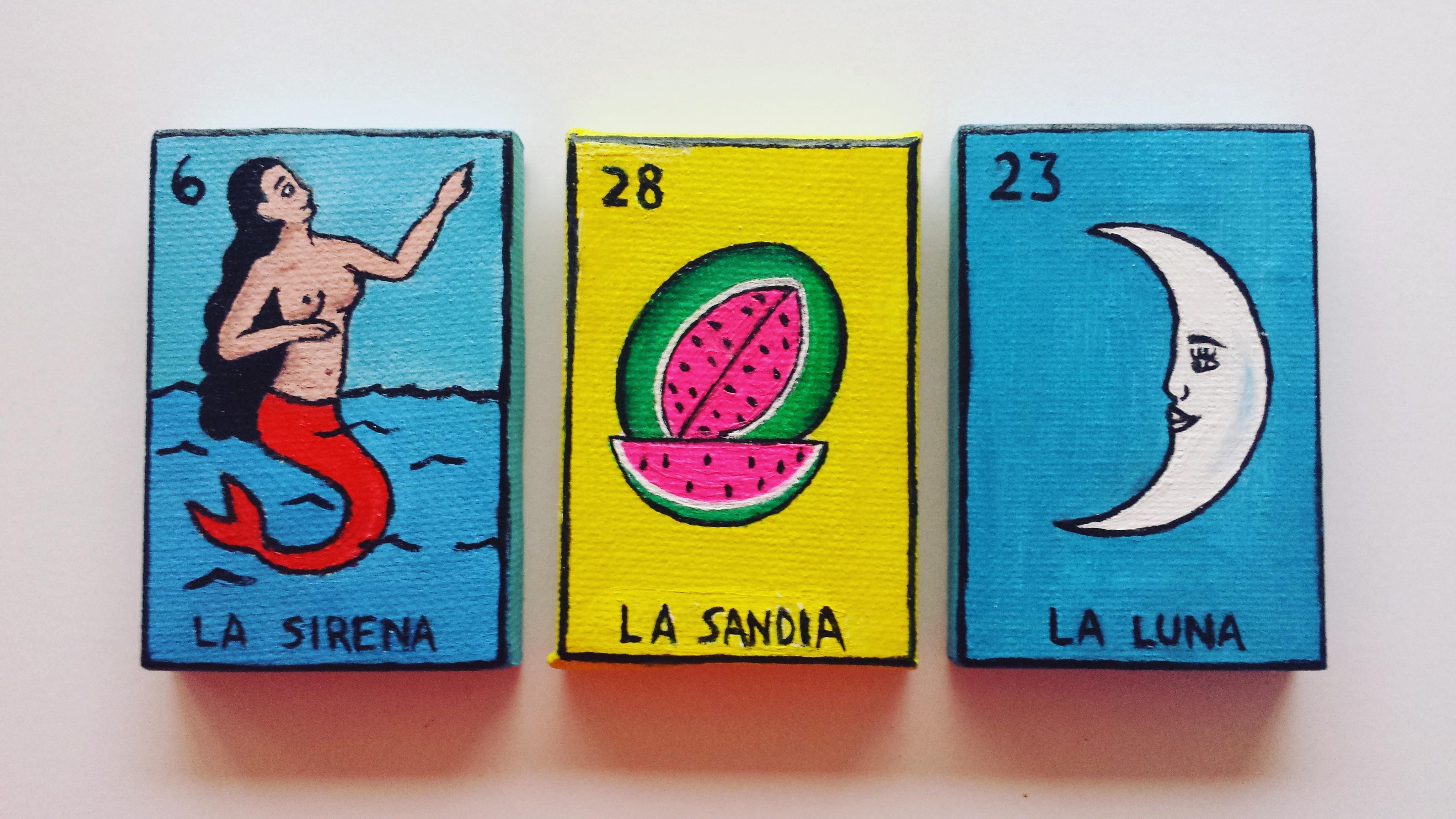 La Sirena, La Sandia, La Luna