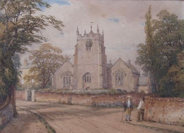 Lilington Church with figures 1861.jpg