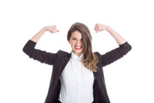 businesswoman-flexing-muscles-enthusiast