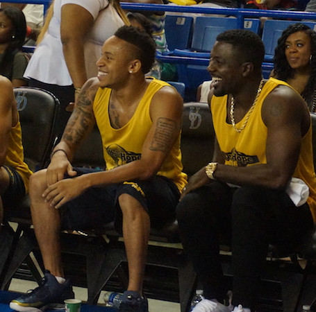 Rotimi, Tami Roman and Lance Gross attend Duffy's Hope Annual Celebrity Basketball Game