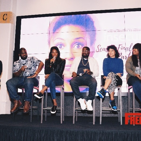 HBO's Insecure Stars Lil Rel and Yvonne Orji Attend the Bossip Season Finale Watch Party