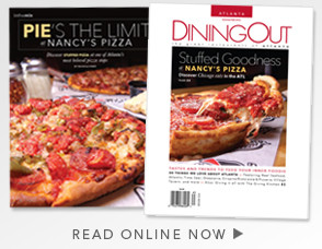 Nancy's Pizza Celebrates Dining Out Magazine Cover