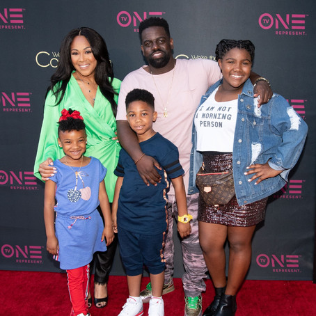 """Erica & Warryn Campbell at Red Carpet Premiere of TV One's """"We're The Campbel"""
