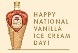 Crown Royal Reminds Us Sunday is National Vanilla Ice Cream Day