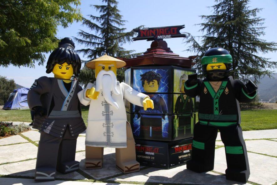 Jamie Foxx and Laura Govan host THE LEGO NINJAGO Movie Back To School Bash