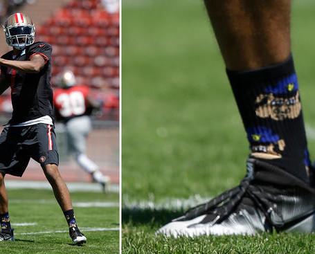 Kaepernick Disses Law Enforcement  by Wearing Pig Socks