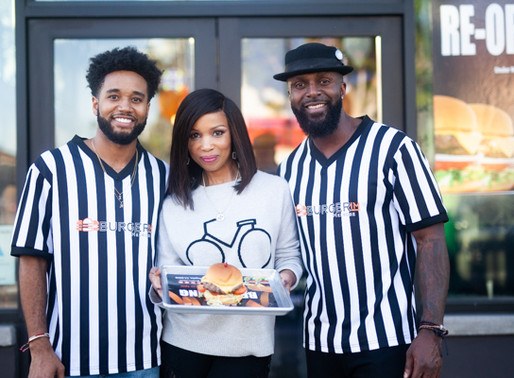 Kibwe Trim, Elise Neal, & VIP's Gather for Grand Re-Opening of BURGERIM