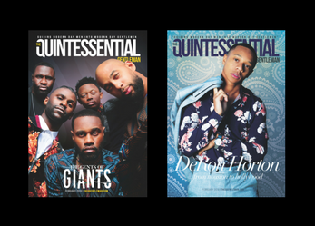"""The Gent of """"Giants"""" and DeRon Horton Cover The Quintessential Gentleman Magazine"""