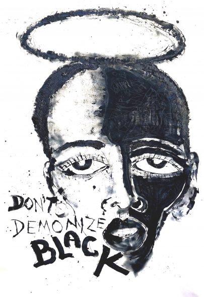 Art Africa Miles Regis Don't Demonize Black 93x56