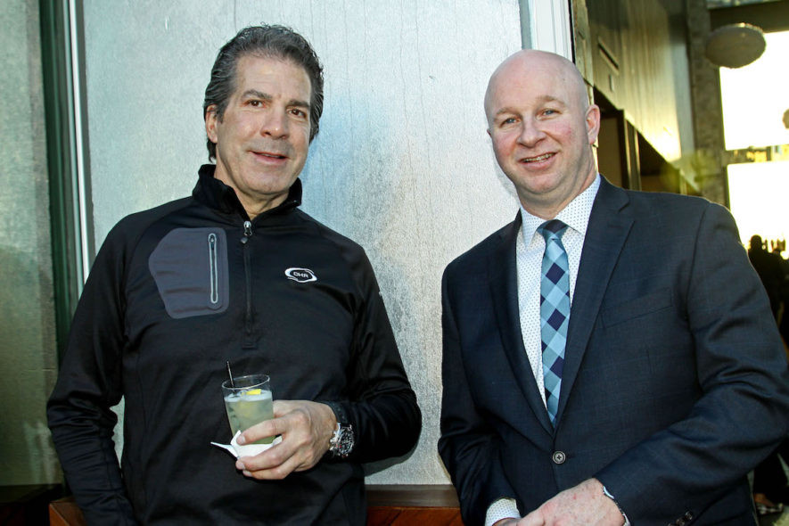 Photo of Crescent's President and CEO, Michael George (left) and the hotel's General Manager, Richard Hotter (right).