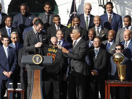 Cavs Visit The White House