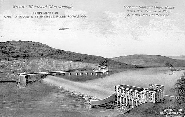 The History Of The Hales Bar Dam On The Tennessee River In