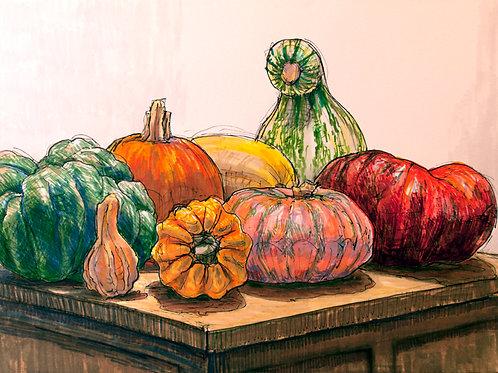 Gourds on Block