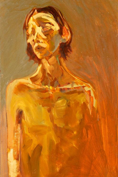 Orange Self-Portrait