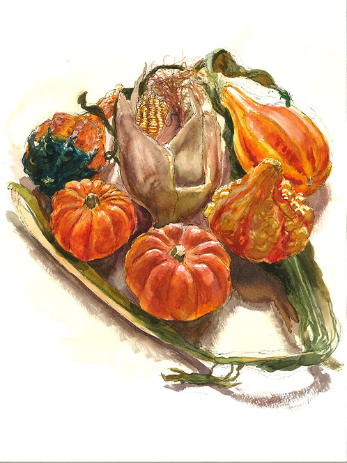 Gourds with Corn