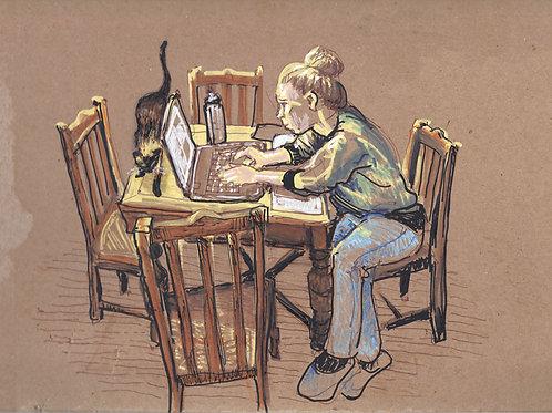 Jess Studying