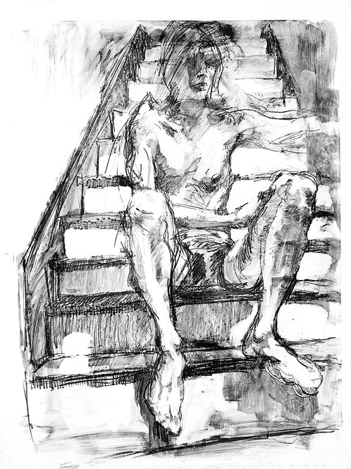 Self-Portrait Stairs