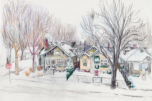 Corner of Pascal & Sargent in Winter