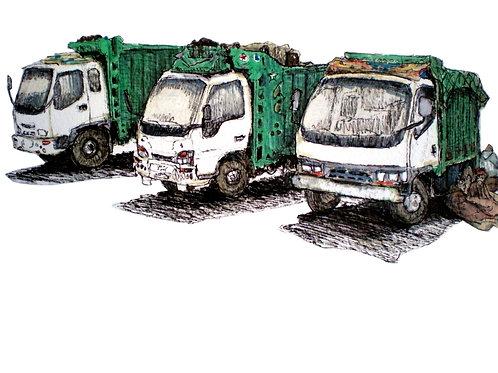 Moroccan Garbage Trucks