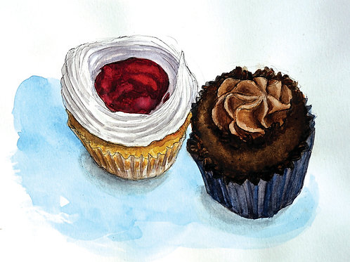 Jelly and Chocolate Cupcakes
